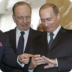 Руперт Мердок и Владимир Путин